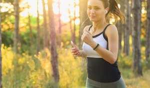 Superb girl running