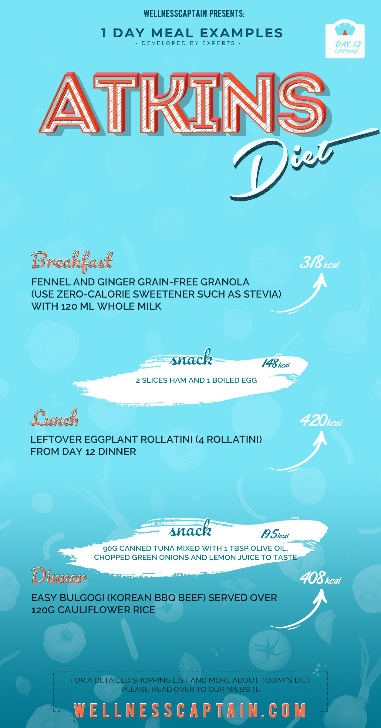 Atkins diet DAY13