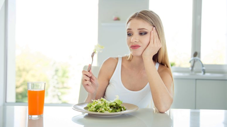 woman disliking food