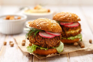 Vegan Recipe of the Day: Make the Best Falafel Burgers in Town!