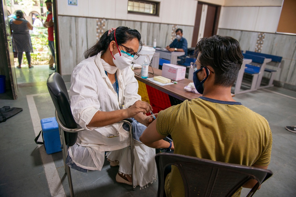 vaccinated man in India